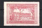 Reklamemarke Gand - Gent, Exposition Universelle Et Internationale 1913, Serre des Orchidees, Ausstellungsgeb�ude, rot