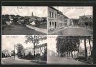 AK Pausa, Obere Badestrasse, Markt mit Johannstrasse