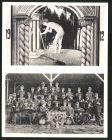 Klapp-AK Gruppenbild Burschenschafter 1912, Studentenwappen, nackter J�ngling