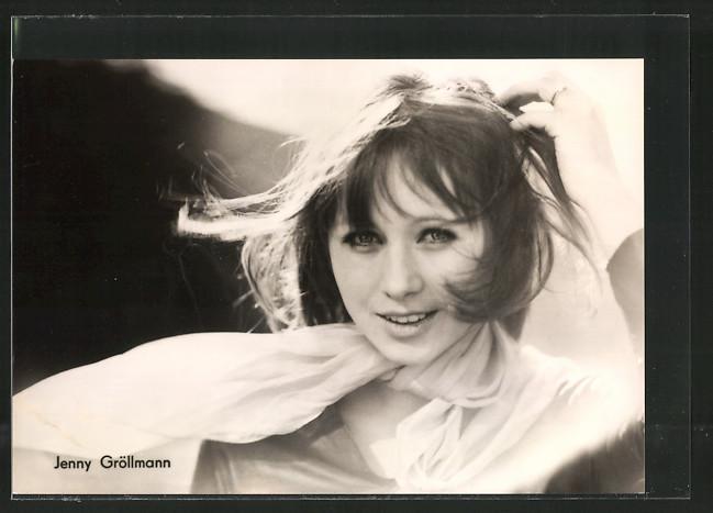 AK Portrait der Schauspielerin Jenny Gröllmann, DEFA Nr