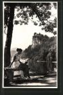 AK Bled / Veldes, Blick auf den Schlossberg
