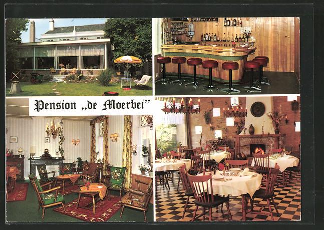 AK Oostkapelle, Hotel Pension De Moerbei, Aussen- u. Innenansichten