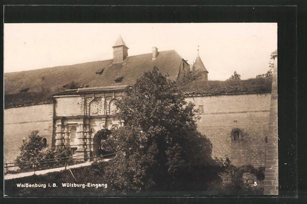 AK Weissenburg, Wülzburg-Eingang
