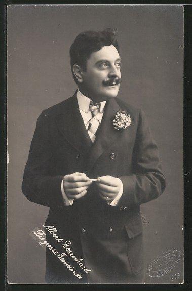 AK Portrait des Schauspielers Albert Bozenhard