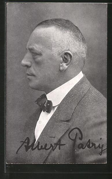 AK Portrait des Schauspielers Albert Patry