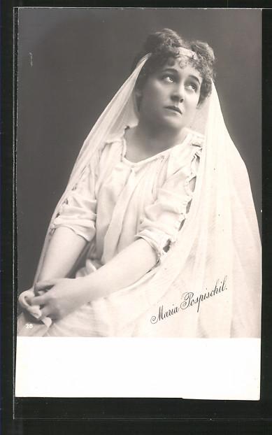 AK Portrait der Schauspielerin Maria Pospischil
