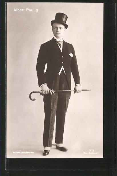 AK Portrait des Schauspielers Albert Paulig