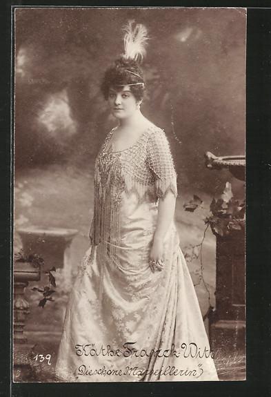 AK Portrait der Schauspielerin Käthe Franck-Witt