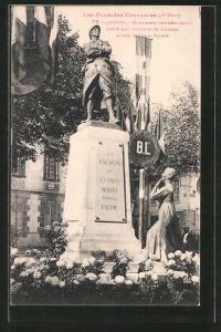 AK Luchon, monument commémoratif élevé aux enfants de Luchon morts pour la patrie