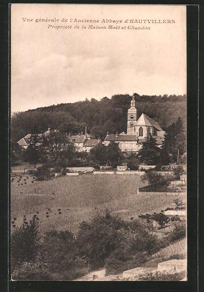 AK Hautvillers, vue générale de l'ancienne abbaye