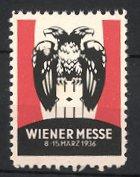 Reklamemarke Wien, Wiener Messe 1936, Doppelkopfadler