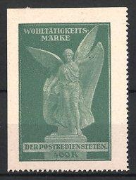 Reklamemarke - Wohltätigkeits-Marke der Postbediensteten, Schutzengel