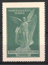 Reklamemarke Wohltätigkeits-Marke der Postbediensteten, Engel, grün
