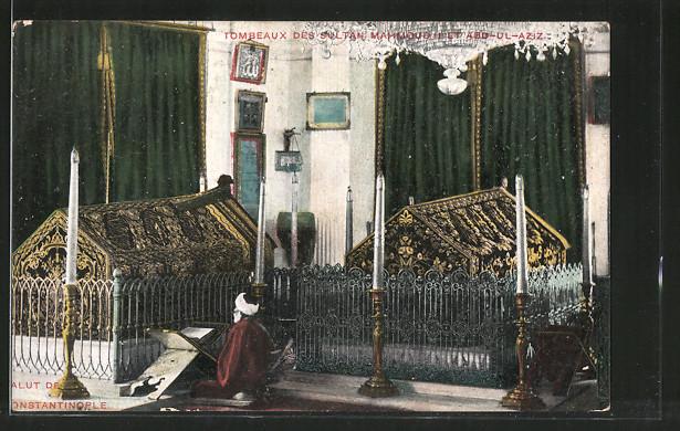 AK Constantinople, Tombeaux des Sultan Mahmoud et Abd-ul-Aziz