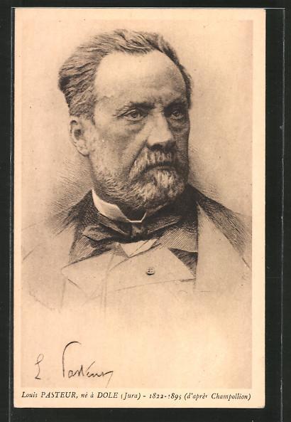 Künstler-AK Portrait von Louis Pasteur
