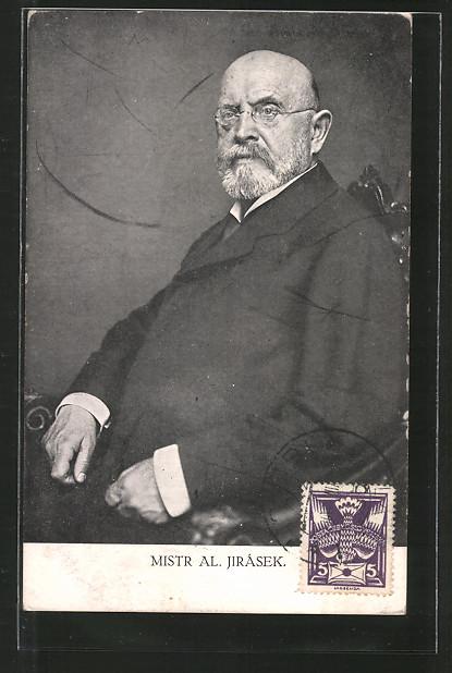 AK Portrait des Ministers Alois Jirásek