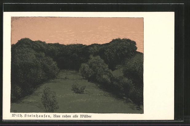 Künstler-AK Wilhelm Steinhausen: