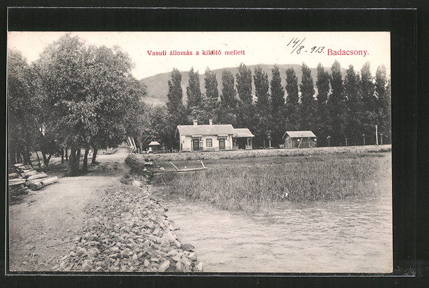 AK Badacsony, Vasuti állomás a kikötö mellett