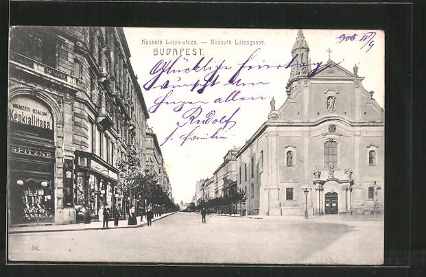 AK Budapest, Kossuth Lajos-utcza, Kossuth Lajos-Gasse