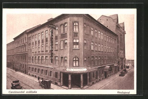 AK Budapest, Continental szálloda, Hotel Continental, Palatingasse 22