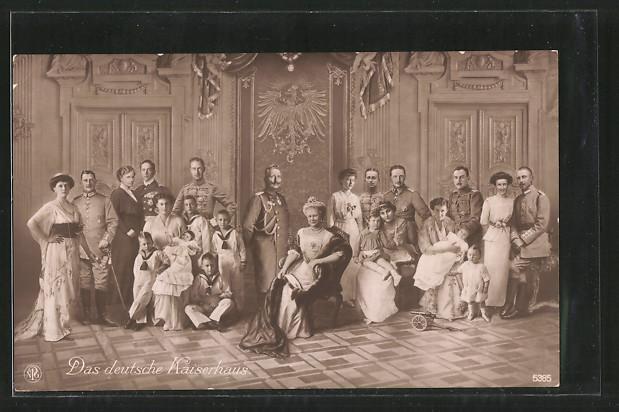 AK Das Deutsche Kaiserhaus von Preussen