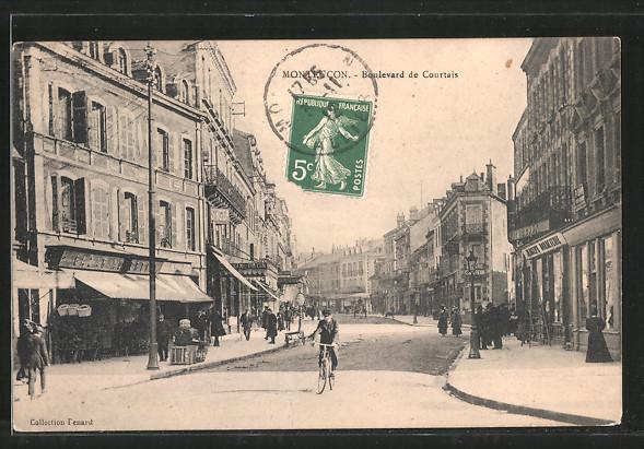 AK Montlucon, Strassenpartie: Boulevard de Courtais