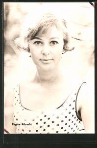 AK Portrait der Schauspielerin Regine Albrecht