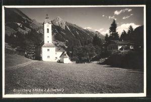 AK Brandberg i. Zillertal, Kirche, Aussenansicht