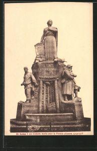 AK Lens, monument aux morts pour la France 1914-1918