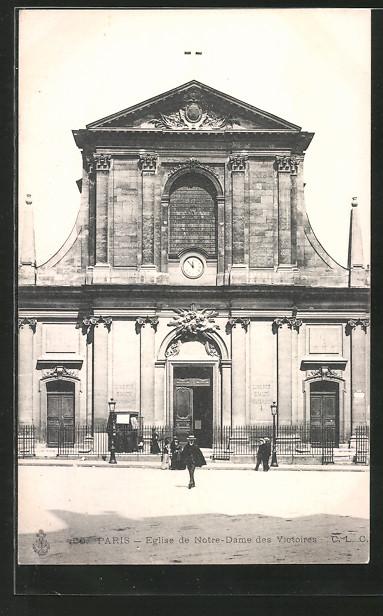 AK Paris, église Notre-Dame des Victoires