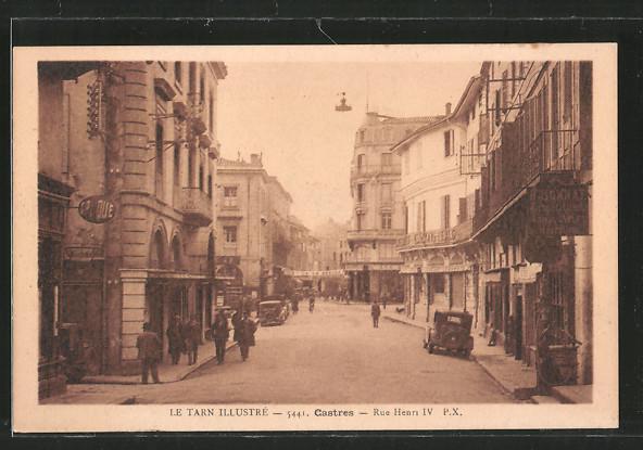 AK Castres, rue Henri IV., Geschäfte