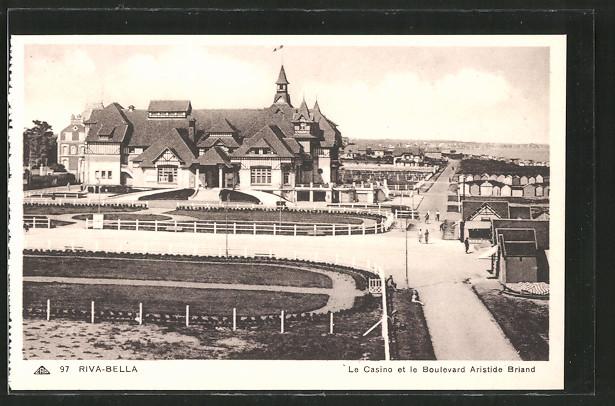 AK Riva-Bella, le casino et le boulevard Aristide Briand