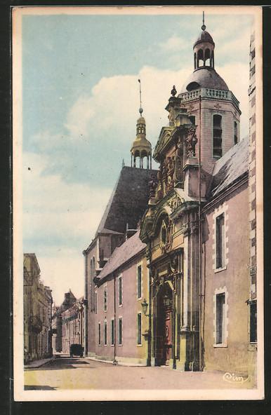 AK La-Fléche, rue du Collége, porte d'honneur du Prytanée