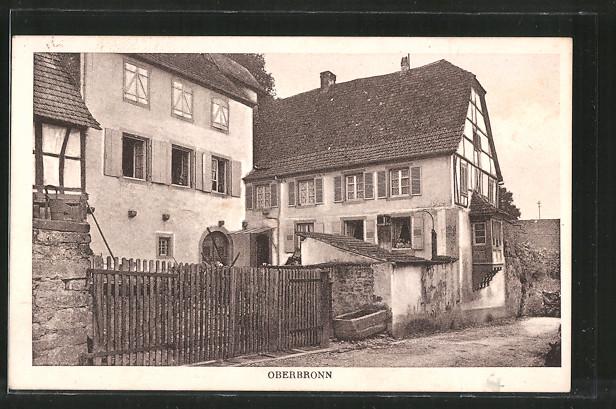 AK Oberbronn, Blick auf ein altes Haus