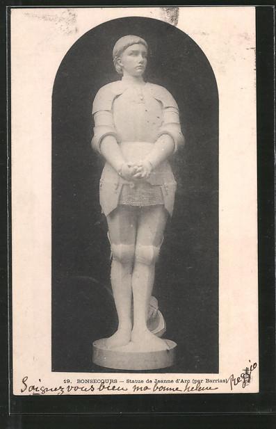 AK Bonsecours, Statue de Jeanne d'Arc / Johanna von Orleans
