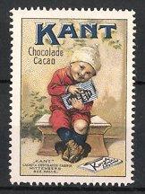 Reklamemarke Wittenberg, Kant Schokolade & Kakao, Knabe mit Tafel Schokolade