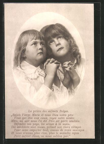 AK Kinderfürsorge, Kinder blicken betend zum Himmel