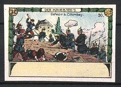 Reklamemarke Reichseinigungskriege 1870/71, Gefecht bei Colombey, Deutsche & Französische Infanterie im Kampf