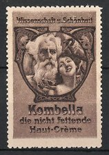 Reklamemarke Kombella Haut-Creme, hübsche Frau & alter Mann