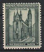 Reklamemarke Wien, Maria Am Gestade, kath. Kirche, Wiener Verkehrsverein