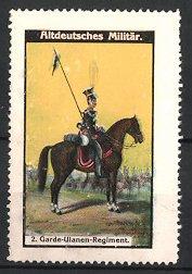 Reklamemarke Altdeutsches Militär, 2. Garde Ulanen Regiment, Ulan zu Pferd