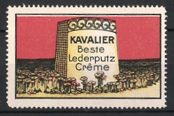 Reklamemarke Kavalier Lederputz-Creme, Grenzstein