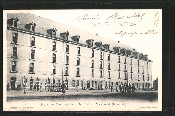 AK Sedan, vue intérieure du Quartier Macdonald (Infanterie)