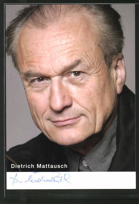 AK Schauspieler Dietrich Mattausch schaut freundlich in die Kamera