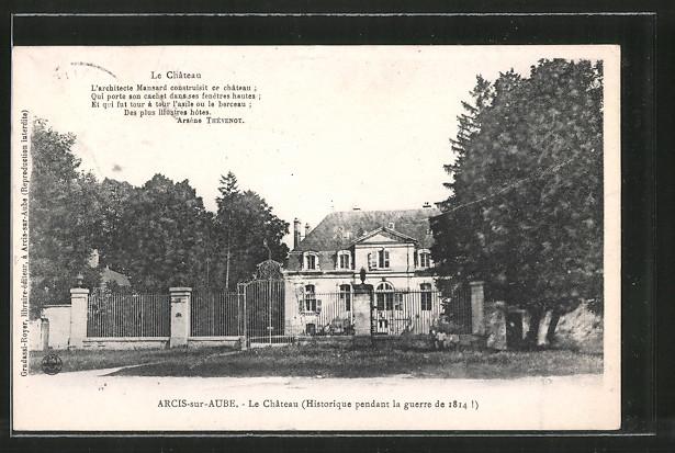 AK Arcis-sur-Aube, le château