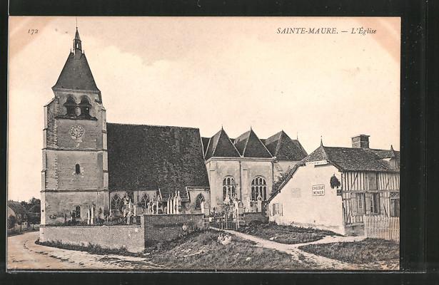 AK Sainte-Maure, l'église