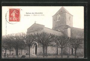 AK Lorignac, l'Église, Blick zur Kirche