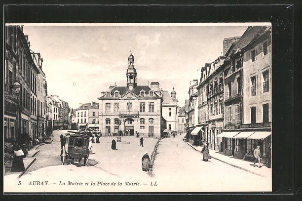 AK Auray, la mairie et la place de la mairie