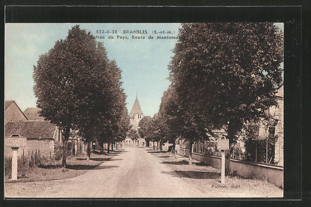 AK Bransles, entrée du pays, route de Montereau