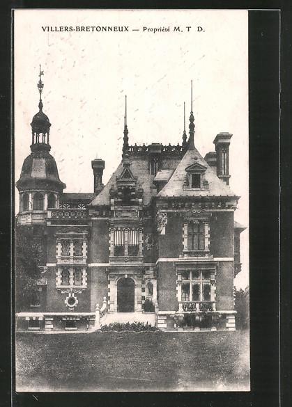 AK Villers-Bretonneux, Propriété M. T. D., Villa